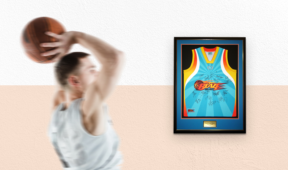 Basketball Jersey Framed