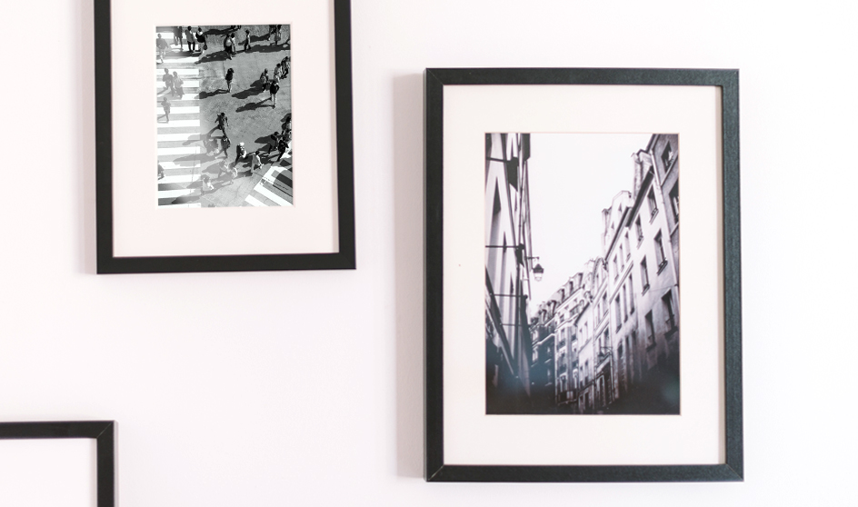 2 photos on a wall framed